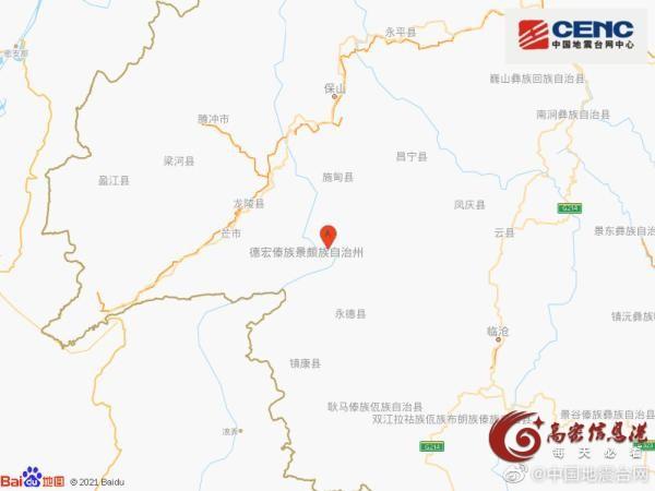 云南保山市施甸县发生4.7级地震,震源深度8千米